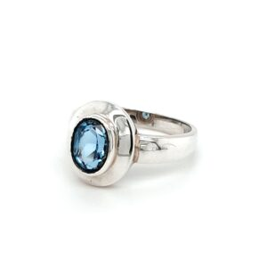 Leon Baker Sterling Silver and Blue Topaz Ring_1
