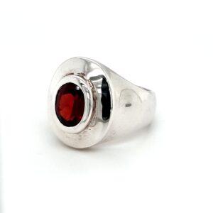 Leon Baker Sterling Silver and Garnet Ring_1