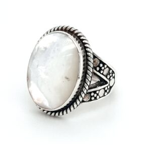 Leon Baker Sterling Silver and Mother of Pearl Ring_1