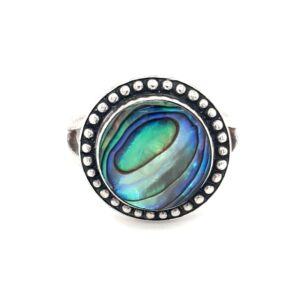 Leon Baker Sterling Silver and Paua Shell Ring_0