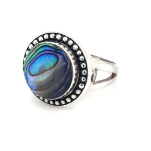 Leon Baker Sterling Silver and Paua Shell Ring_1