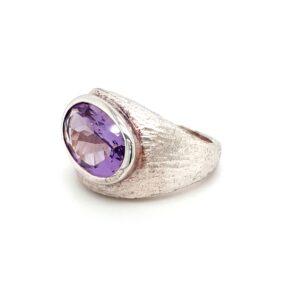 Leon Baker Handmade Sterling Silver and Amethyst Ring_1