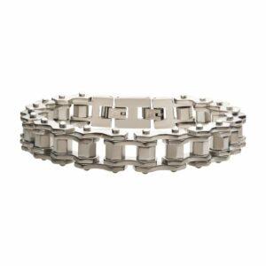 Leon Baker Steel Bike Chain Bracelet_0