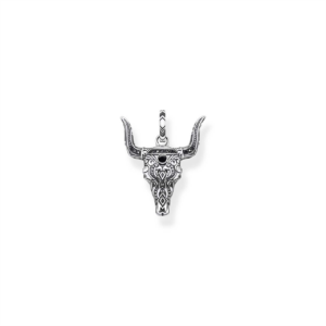Thomas Sabo Silver and Onyx Bull Pendant_0