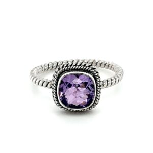 Leon Baker Sterling Silver and Amethyst Ring_0