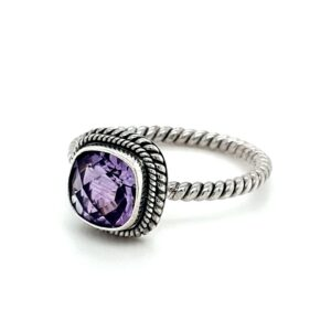 Leon Baker Sterling Silver and Amethyst Ring_1