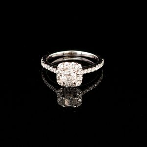 Leon Bakers 18K White Gold GIA Diamond Engagement Ring_1