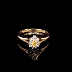 Leon Bakers 18K Yellow Gold Pear Cut Yellow Dia Ring_1