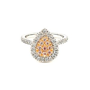 Leon Bakers Pink Argyle Pear Shaped Cluster ring_0