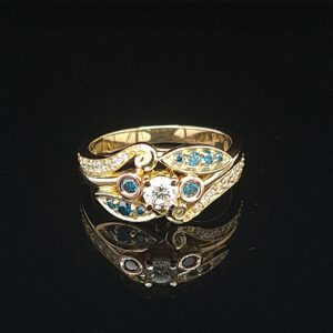 Leon Bakers Handmade Blue Diamond Ring_1