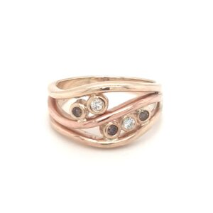Coral Bay Collection Handmade Yellow and Rose Gold Diamond Ring_0