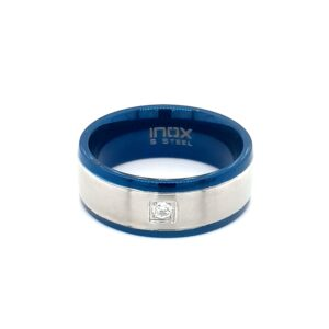 Leon Baker Stainless Steel Blue Ring_0