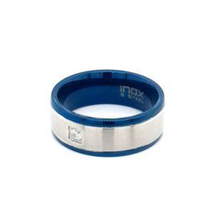Leon Baker Stainless Steel Blue Ring_1