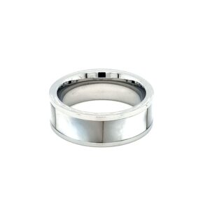 Leon Baker Stainless Steel and Mother of Pearl Ring_1