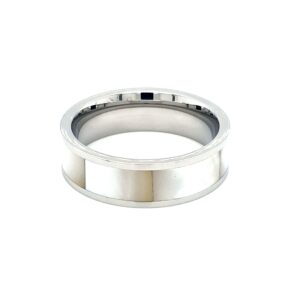 Leon Baker Stainless Steel and Australian Mother of Pearl Ring_1