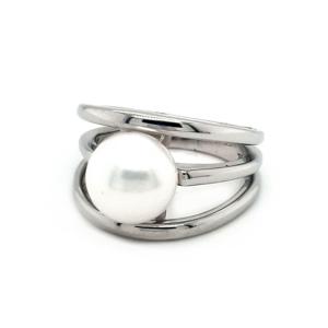 Leon Baker Sterling Silver Wide Fresh Water Pearl Ring_1
