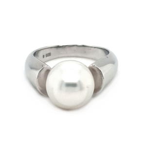Leon Baker Sterling Silver and Cultured Broome Pearl Ring_0