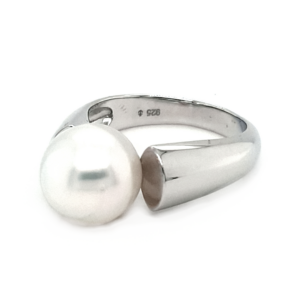 Leon Baker Sterling Silver and Cultured Broome Pearl Ring_1