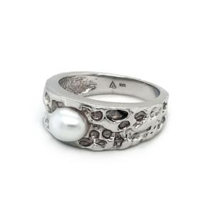 Leon Baker Sterling Silver Australian South Sea Keshi Pearl Ring_1