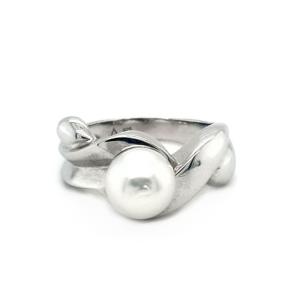 Leon Baker Sterling Silver Australian South Sea Cultured Pearl Ring_0