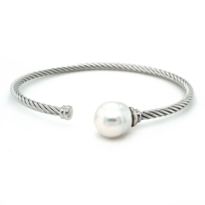 Leon Baker Sterling Silver and Broom Pearl Bangle_0