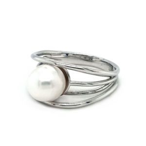 Leon Baker Sterling Silver and White Broome Pearl Ring_1