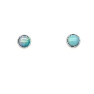 Leon Baker Sterling Silver and Solid Opal Earrings_0