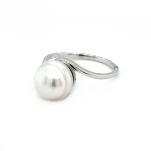 Leon Baker Sterling Silver Broome Pearl Ring_1