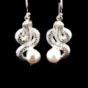 Leon Baker Sterling Silver Fresh Water Pearl Earrings_1