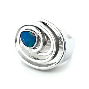Leon Baker Sterling Silver and Opal Ring_1