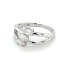 Leon Baker Sterling Silver and Solid White Opal Ring_1