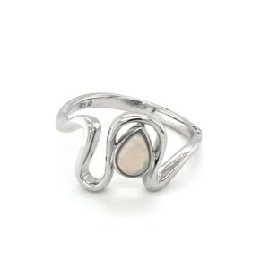Leon Baker Sterling Silver and Solid Opal Ring_0