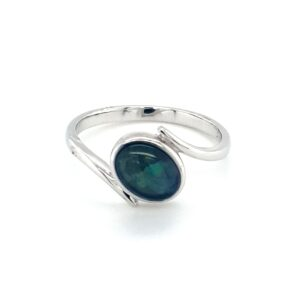 Leon Baker Sterling Silver and Opal Doublet Ring_0