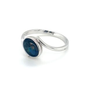 Leon Baker Sterling Silver and Opal Doublet Ring_1