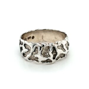 Leon Baker Sterling Silver Molten Style Ring_0