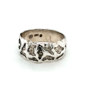 Leon Baker Sterling Silver Molten Style Ring_1