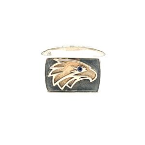 Leon Bakers Eagle ring in Sterling Silver and 9k Yellow Gold_0