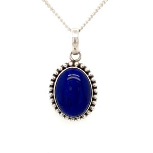 Leon Baker Sterling Silver and Blue Stone Pendant_0