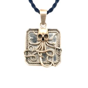 Leon Bakers 9k Yellow Gold and Sterling Silver Kracken Pendant_0
