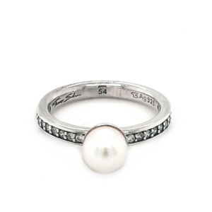 Thomas Sabo Sterling Silver Pearl and Cubic Zirconia Ring_0