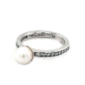 Thomas Sabo Sterling Silver Pearl and Cubic Zirconia Ring_1