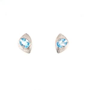 Leon Baker Sterling Silver and Blue Topaz Earrings_0