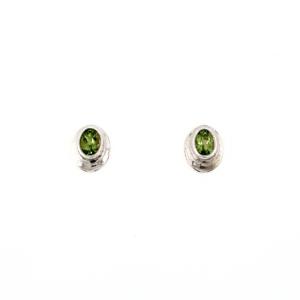 Leon Baker Sterling Silver and Peridot Earrings_0