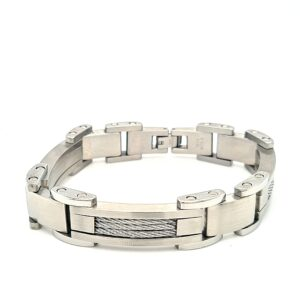 Leon Bakers Stainless Steel 22cm Cable Bracelet_0