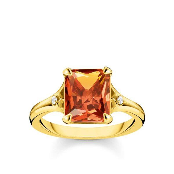Thomas Sabo Orange Stone Ring_0