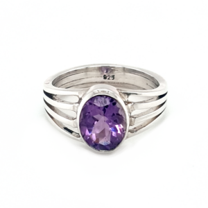 Leon Baker Sterling Silver Amethyst Ring_0