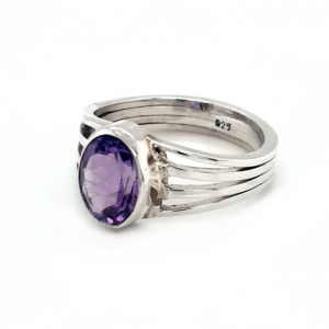 Leon Baker Sterling Silver Amethyst Ring_1