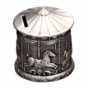 Leon Bakers Pewter Money Bank_0