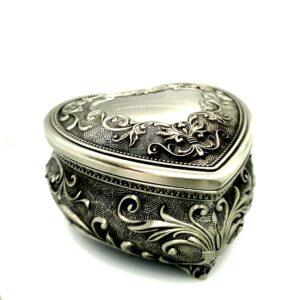 Leon Bakers Heart Pewter Jewellery Box_0