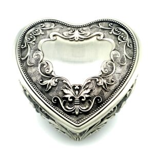 Leon Bakers Heart Pewter Jewellery Box_1
